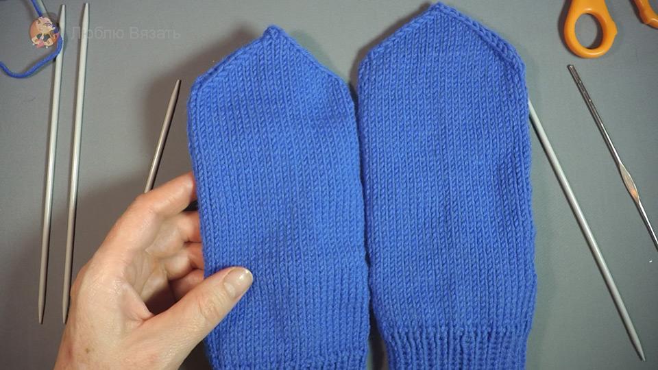 Как связать носки на 5 спицах +видео