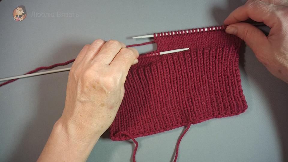 Мастер класс вязание носков на 2-х спицах 73