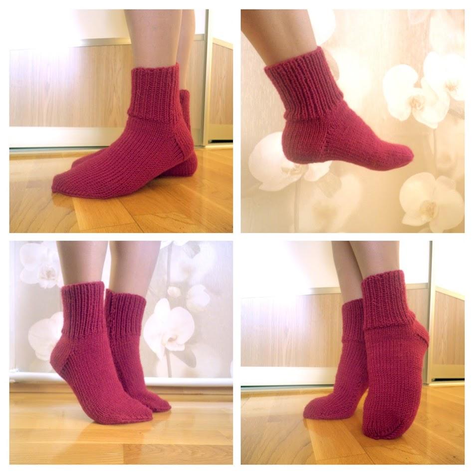 мастер класс носки на 2 спицах пошаговое видео с описанием
