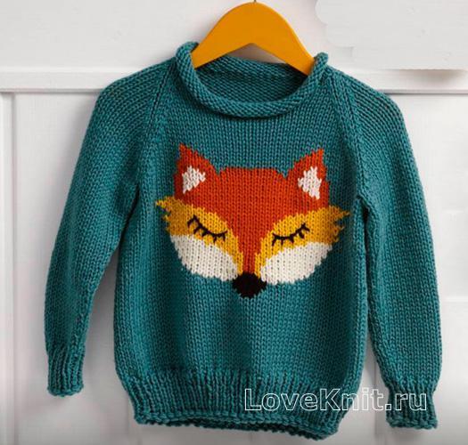 Связать детский свитер схема 442