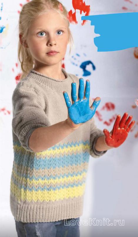 Связать детский свитер схема 509