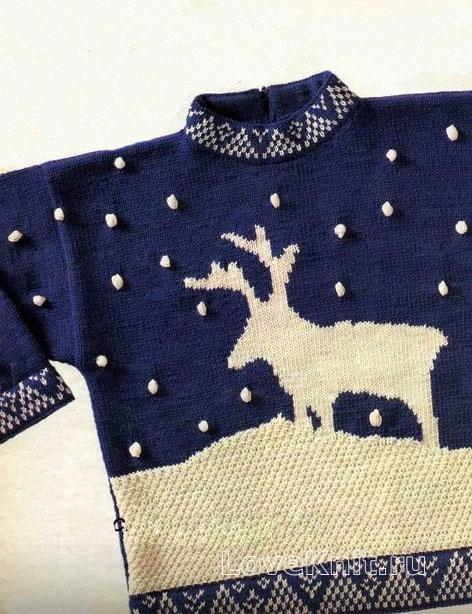 Связать свитер детский спицами с рисунком схемы