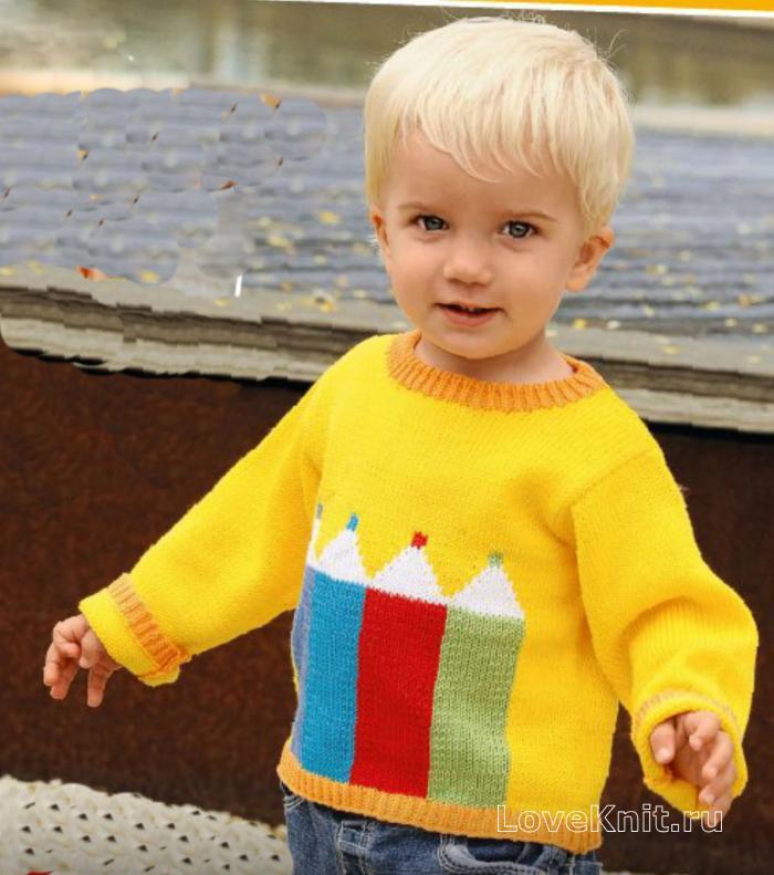 схема вязания кофты для мальчика 4 лет