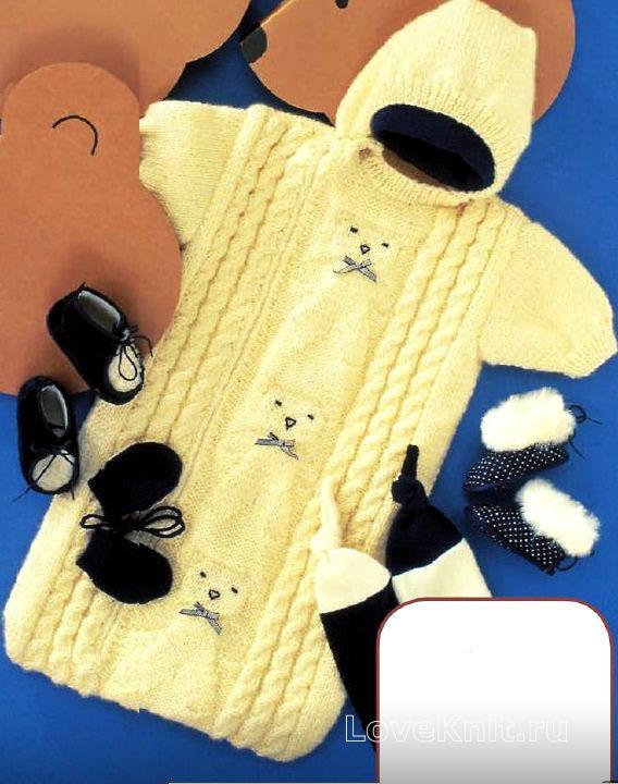 Вязание на спицах комбинезон детский