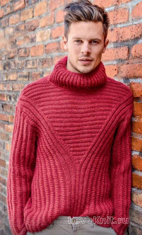мужской свитер английской резинкой схема для мужчин люблю вязать