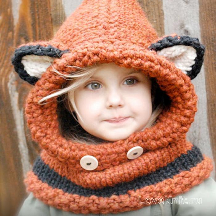 Как связать капор-шапку для ребенка