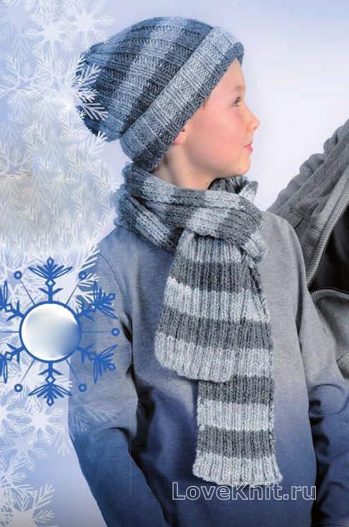 вязаные детские шапки схемы с подробным описанием