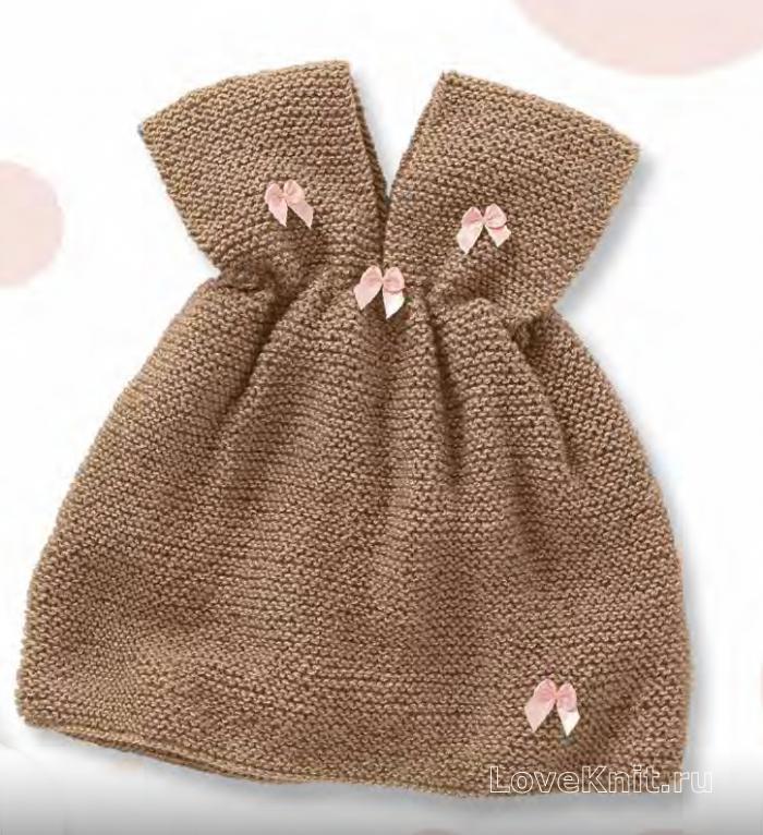 16e408b234f Детский сарафан без рукавов для маленькой принцессы схема » Люблю Вязать