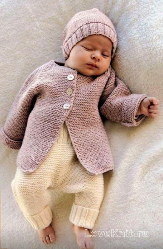 детские штанишки с отворотами схема люблю вязать