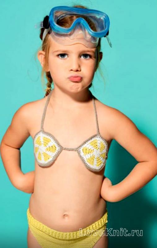 2a83909b56b92 Раздельный купальник на завязках для ребенка схема крючком » Люблю ...