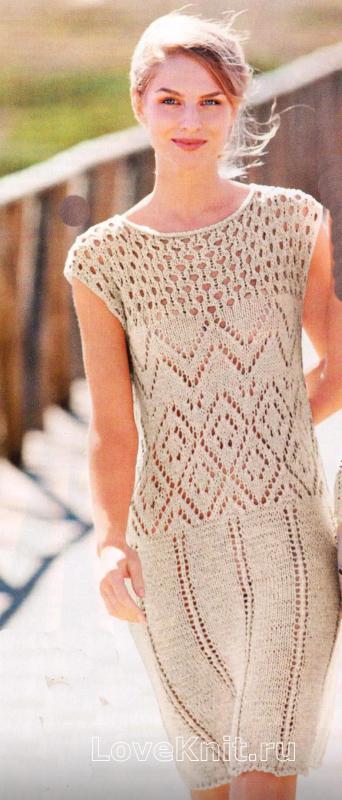 Ажурный узор на платье схема