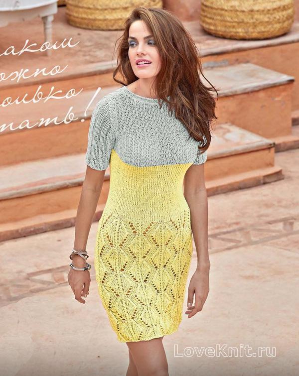 Вязание крючком: двухцветное платье Вяжем вместе 68