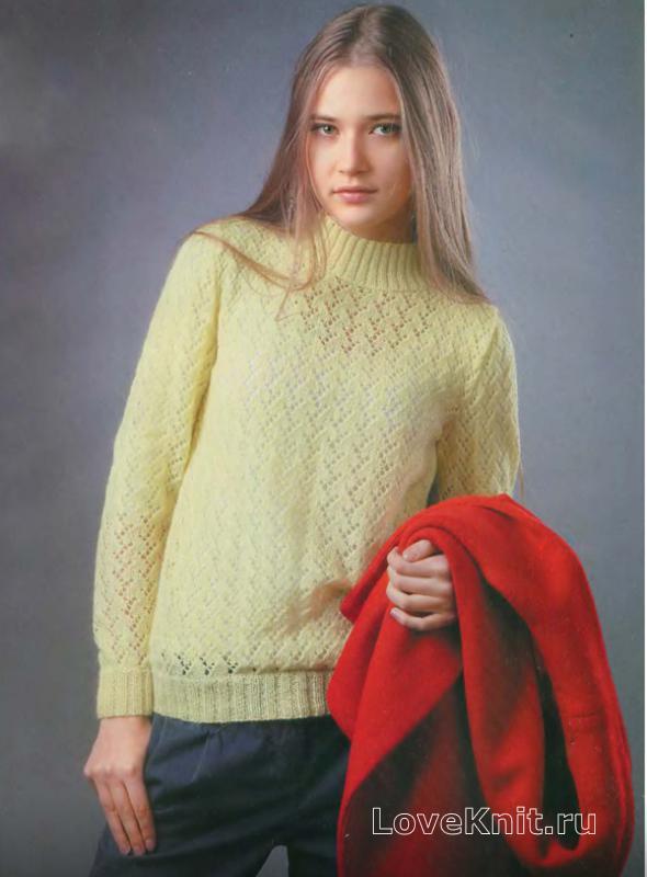Объемный свитер крупной вязки схема фото 86