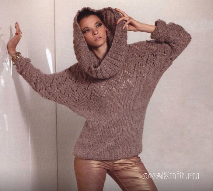 Объемный свитер крупной вязки схема фото 496