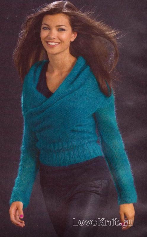 Объемный свитер крупной вязки схема фото 893