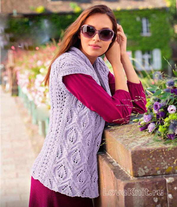 вязание спицами свитер ажурный схема