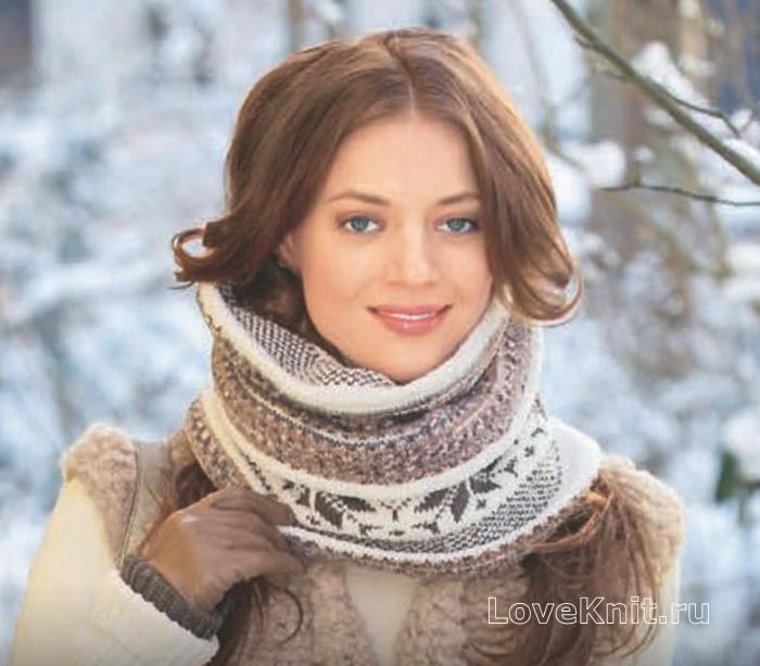 ажурный шарф воротник крючком схемы