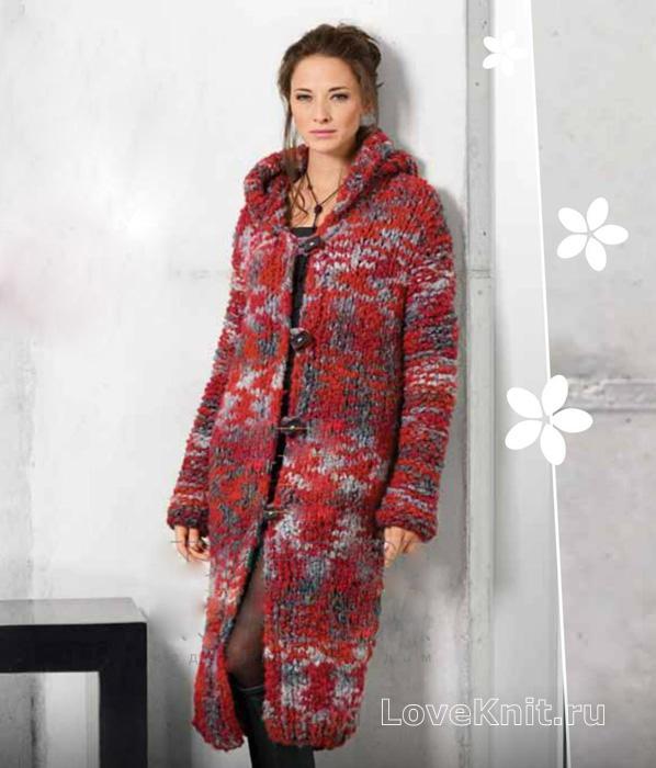 Вязание крючком теплое пальто схемы 22
