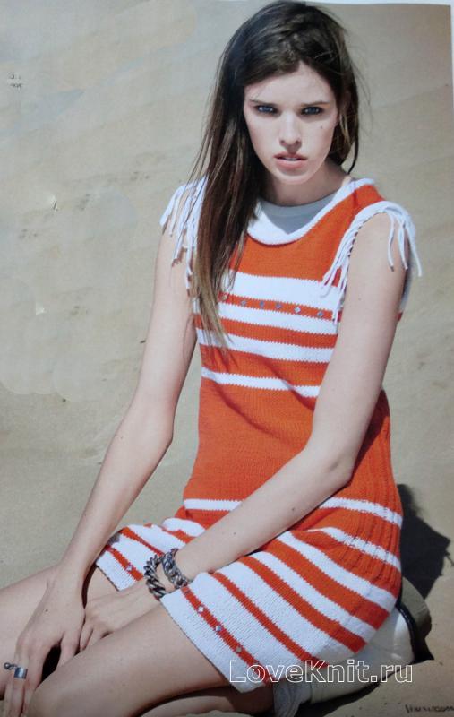 Женское платье футляр крючком