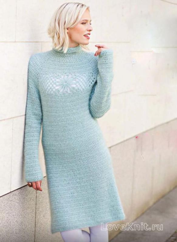 Вязание крючком простое платье