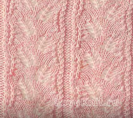 Образцы узоров для вязания на спицах Соты