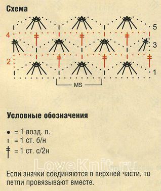 Описание вязания к узор ажурный №1266