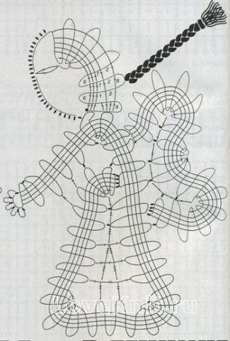 Описание вязания к узор №1504