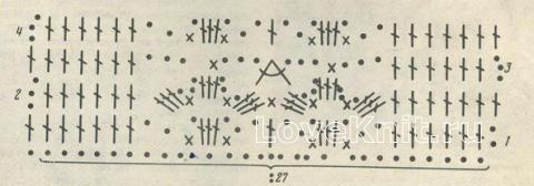 Описание вязания к узор №1471 крючком