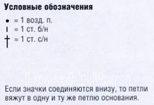 Описание вязания к узор №1707 крючком