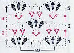 Описание вязания к узоры веерочки (ракушки) №4070 крючком