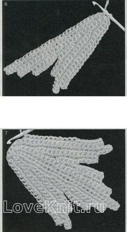 Описание вязания к узор классический листик №1437 крючком