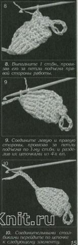 Описание вязания к шестиугольные мотивы (5) крючком