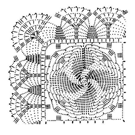 Описание вязания к узор крючком №3804 крючком