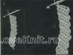 Описание вязания к узор кружева №1494 крючком