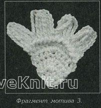 Описание вязания к узор кружева №1497 крючком