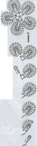 Описание вязания к узор №1500 крючком