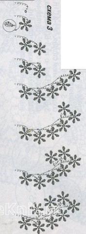 Описание вязания к узор кружево №1501 крючком