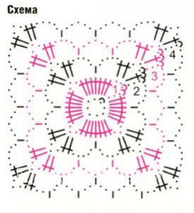 Описание вязания к узор №1718 крючком