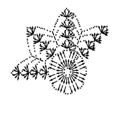 Описание вязания к узор крючком №3767 крючком