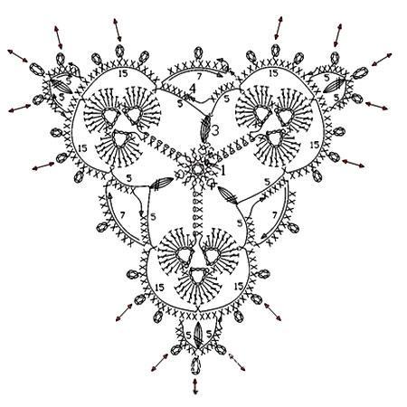 Описание вязания к узор крючком №3772 крючком