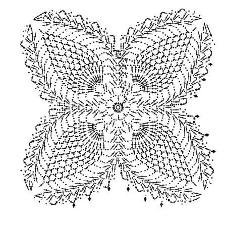 Описание вязания к узор кружево №3803 крючком