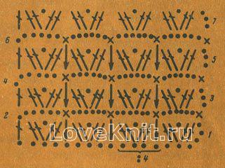 Описание вязания к узор №1193 крючком