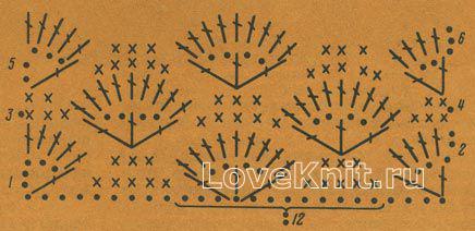 Описание вязания к узор №1459 крючком