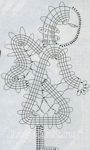 Описание вязания к узор №1503 крючком