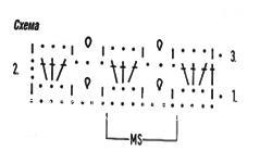 Описание вязания к узор крючком №3907 крючком