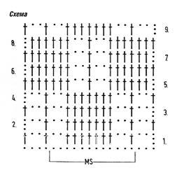 Описание вязания к узор крючком №3911 крючком