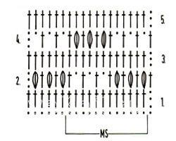 Описание вязания к узор крючком №3923 крючком