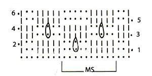 Описание вязания к узор крючком №3934 крючком