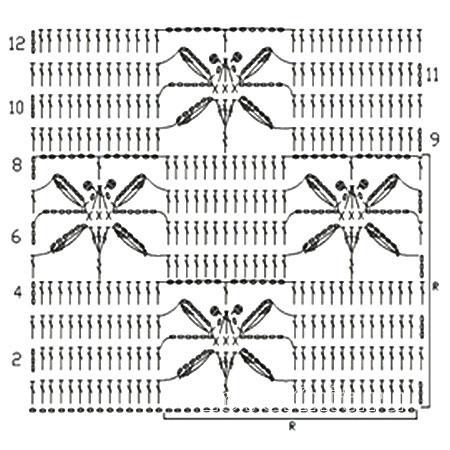 Описание вязания к красивый узор №3938 крючком