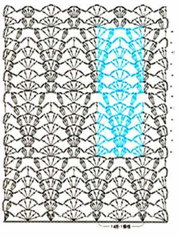 Описание вязания к узор ажурный  №3947 крючком